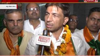 india voice correspondent talk with bjp candidate govind aggarwal