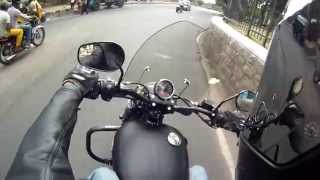 "Test Riding the ""Harley Davidson Street 750""."