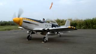 Our Mustang T-51 Aircraft Engine Start and Run up.