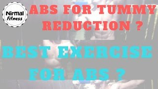 ABS FOR TUMMY REDUCTION AND BEST EXERCISE FOR ABS