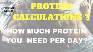PROTEIN CALCULATIONS - Nirmalfitness
