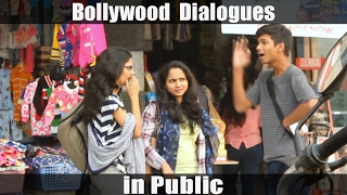 Bollywood Dialogues in Public - Pranks in India - Kshit Tv