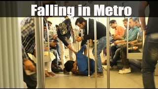 EPIC Falling Prank in Metro