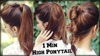 3 Cute & Easy Everyday Summer Hairstyles With High Ponytail + Puff for School, College, Work