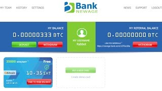 NewAge Bank - Double Your Bitcoins in Just 30 Days (100% Trusted) 2017