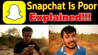 India Is Not Poor, Snapchat Is Poor Explained #REDpictures