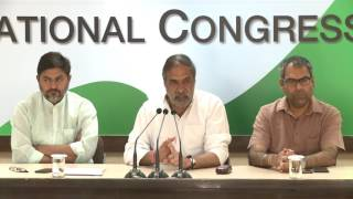 AICC Press Briefing By Anand Sharma at Congress HQ, May 1, 2017