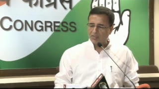 LIVE : AICC Press Briefing by Randeep Singh Surjewala at Congress HQ