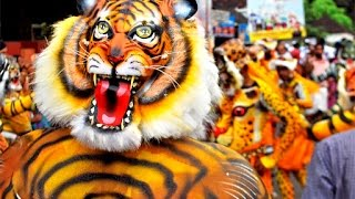 Tiger dance during onam