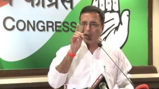AICC Media Byte addressed by Randeep Surjewala at Congress HQ, May 1, 2017