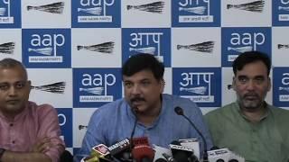 Aap Leader Sanajy Singh Briefs Media on Kapil Mishra's Allegations