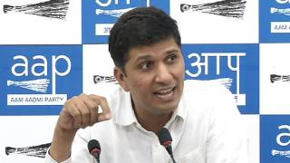 Aap Leader Saurabh Bhardawaj Press Brief on EVM Hacking
