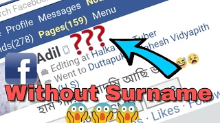 Access Facebook without surname