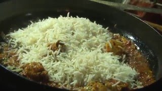 mutton biryani street food - indian muslim street food mutton biryani