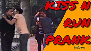 KISS & RUN PRANK (returns) by VIKAS | PRANKS IN INDIA | 2017