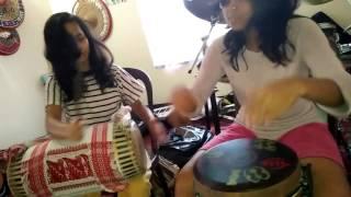 Assamese Bihu dhol taal (saapar) - played assamese grils Kaberi And Progya