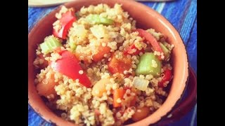 Easy Quinoa Pulao Recipe | Warm Quinoa Salad Indian Recipe Video