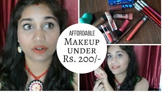 Best Affordable Lip Products in India under Rs. 200/- | Where to Buy Affordable makeup online