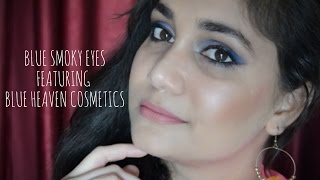 Blue Smokey Eyes - One Brand Makeup Ft. Blue Heaven Cosmetics | Nidhi Katiyar
