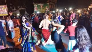 Durga puja by Beautifuly kinnar people dancing in Odisha INDIA