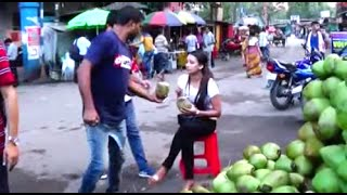 Best Quality Coconuts - Popular Street Food And Drink Of Siliguri, West Bengal, India