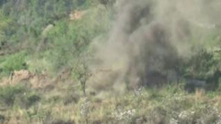 Indian Army pounds Pakistan military posts