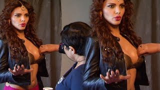 Namkeen Girl Sherlyn Chopra Adjusting Her Assets Front of Camera