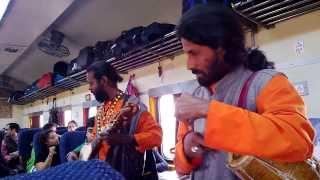 Bengali Folk song by Baul singers aboard Shantiniketan Express