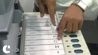 EC Officials give a demo of EVMs, VVPATs to rubbish #EVMFraud