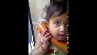 baby talk on phone in marathi funny video