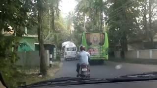 Kerala Private bus rash drive - Rappaadi EKm