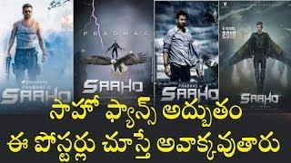 సాహో  పోస్టర్లు చూస్తే అవాక్కవుతారు : Prabhas Sahoo Movie Poster Look Like A Hollywood  movie