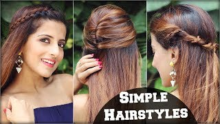 1 Min Cute EVERYDAY Effortless Hairstyles For School, College, Work/ Simple & Quick Hair Tutorial