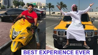 My First Ride Of Hayabusa / Hummer In Dubai
