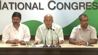 AICC Press Briefing By Shri Dr Abhishek Singhvi at Congress HQ, June 2, 2017
