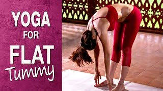 Yoga for flat tummy - Padahastasana (Hindi) - Shilpa Yoga