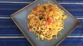 Masala Noodles Bowl Recipe Hindi | Homemade Easy Noodles recipe