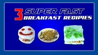 3 super fast tasty Breakfast | INDIAN DESI JAYKA KITCHEN RECIPIES