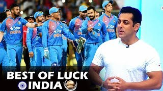 Salman Wishes TEAM INDIA Best Of Luck - IND Vs SL - ICC Champions Trophy