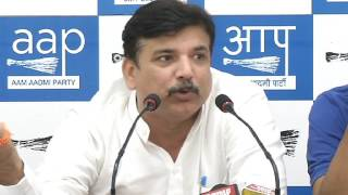 Aap National Spokesperson Sanjay Singh Brief's Media on Mandsaur Farmer Issue