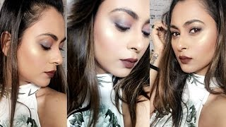 EYE MAKEUP TUTORIAL| FULL FACE MAKEUP LOOK| SMOKEY EYE
