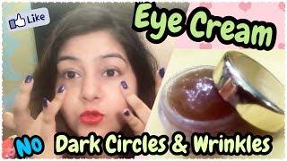 DIY Eye Cream for Dark Circles, Wrinkles at Home - Application Demo | JSuper Kaur