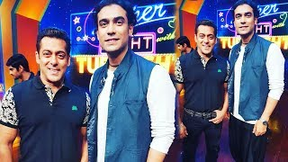 Salman Khan Poses With Bajrangi Bhaijaan Singer Jubin Nautiyal On Super Night With Tubelight