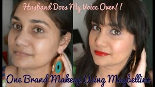 Husband Does My Voice Over India | One Brand Makeup Using Maybelline | Nidhi Katiyar
