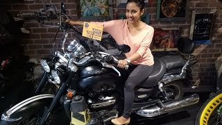 It was Her First Time, on a Fast Motorcycle. Harley Davidson 48.