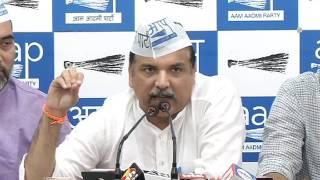 Aap Leaders Brief Media on CBI Raid At Dy CM Manish Sisodia's Residence