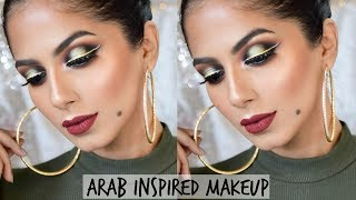 Arab Inspired Makeup I Double Winged Liner Green Halo Eyes Makeup Tutorial