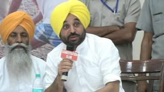 Aap Leader Bhagwant Maan Addresses Farmer Representatives at National Farmers Conclave