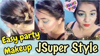 Tutorial - Indian Wedding Guest Makeup Look | Beginner GRWM | JSuper Kaur