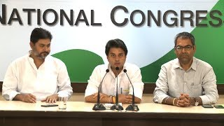 AICC Press Briefing By Shri Jyotiraditya Scindia at Congress HQ, June 19, 2017